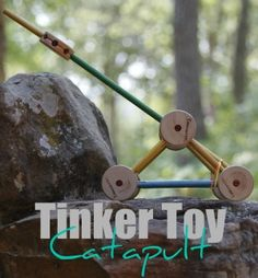 Tinker Toy catapult #catapults #STEM