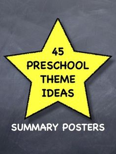 Organize an entire year of toddler preschool. List of 45 themes to use daily or weekly. Printable posters for each unit to help get you organized and focused so you know what you are doing for the whole