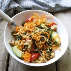 Easy and intense flavors of rice, avocado, veggies  a delicious Asian inspired dressing.