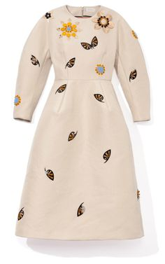 This is just so weird and wonderful. Embellished Sculpted Long Sleeve Dress by Delpozo for Preorder on Moda Operandi