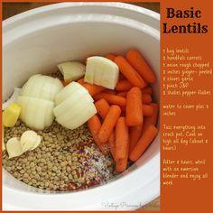 Crock pot lentils- super yummy