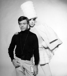 Rudi Gernreich with muse and model Peggy Moffit, 1960's