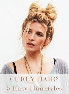 Curly hair? No problem! Check out these hairstyles perfect for your voluminous locks.