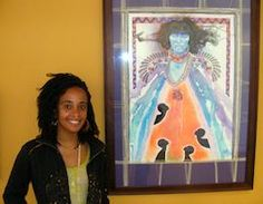 Zena Allen is a self-taught artist informed by Mithila art: a folkloric painting tradition.