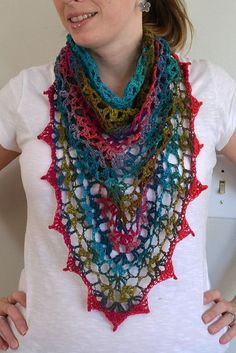 Crochet shawl instructions
