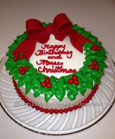 Coolest Wreath Cake... This website is the Pinterest of birthday cake ideas