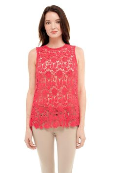 Lace Crochet Knit Top