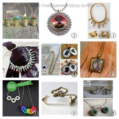 2013 True Blue Me & You DIY Gift Guide: Necklaces Part 3.  #diy #crafts #diy_jewelry #jewelry #diy_necklaces #tutorial