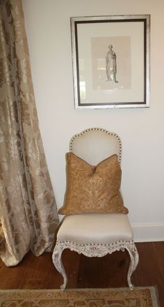 Upholstered back of chair, like added pillow