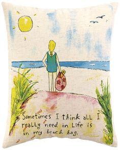 beaches, beachi, beach bags, beach hous, beachbag, feather, bag pillow, pillows, spot