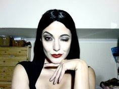The best MORTICIA ADDAMS Makeup Tutorial by Krystle Tips