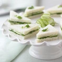 Traditional Cucumber-Watercress Tea Sandwiches #recipe #afternoon_tea #entertaining #tea_party