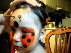 LADY BUG FACE PAINTING TUTORIAL