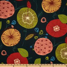 Swavelle/Mill Creek Doozie Prussian - Discount Designer Fabric - Fabric.com