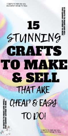 15 Amazing Easy Crafts To Make and Sell For Extra Cash! If you have an online craft business or are looking to start one you'll love these easy crafts to make & sell for profit! They're all cheap crafts that you can do quickly which means you can make money from home quickly! The perfect side hustle idea! Click to check them out! #themummyfront
