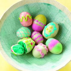 Make Easter even more festive and delicious with egg-shaped cake bites. Give the crumbled cake filling a light lemony flavor with Pure Lemon Extract.
