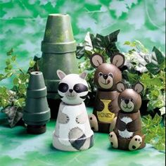 Perky Pots Peaceful Woodland Scene