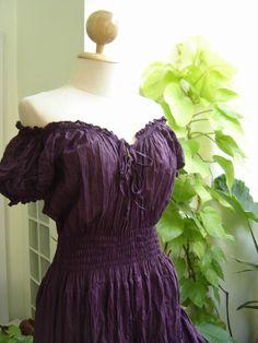 Princess Cotton Dress II - Purple. $48.00, via Etsy.