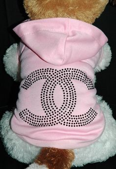 Chanel Pink Rhinestone Dog Hoodie .:BēLLäSFãSh!oN:.
