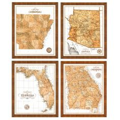 Sepia State Map | Ballard Designs