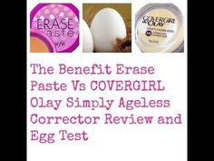 Benefit Erase Paste Vs Covergil Olay Simply Ageless Corrector #bellashoot