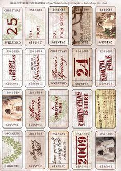 Vintage Printable Free Christmas Tags
