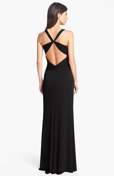 Knotted Jersey Cross Back Gown | Nordstrom [Laundry by Shelli Segal]