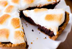 S'mores Brownie Pie.  Made this yesterday. Delish!!