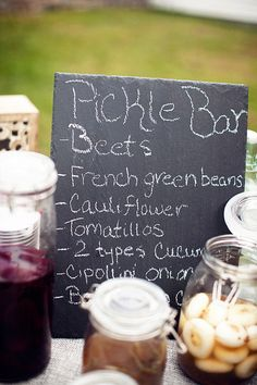 Have no fear we're having A Pickle Bar!