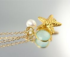 Sea Green Starfish Necklace