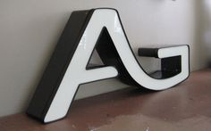 Vintage Huge Industrial Marquee Letter A