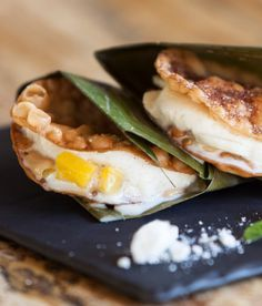 @Four Seasons Resort Costa Rica's crispy Prestino ice cream sandwich with fresh mango, banana and house-made sorbetera ice cream packs quite the bite.
