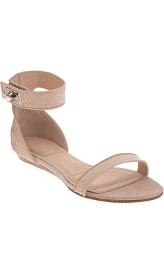 GIVENCHY  Salmon Skin Two-Piece Flat Sandal