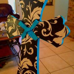 Modge podge wooden cross