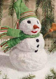 Mr. Snowman - free vintage pattern