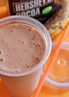 Chef Mommy: Chocolate Banana Protein Smoothie