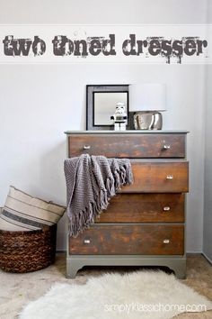 DIY Furniture : Two Toned Painted