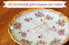 20 Handmade Gift Ideas that anyone can make! The one shown is a magnetic pin plate and has so many uses!