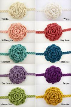 Crochet Headband, Baby Hair Accessory