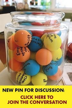 SLPeeps  - Pin for Discussion -  Colored Pin Pong Balls to Choose.  Originally envisioned by a teacher for classroom chores.  I posted this one for the School Psychologists last week, but I know you guys would have great ideas on how we can use this for speech and language.  (I am also going to challenge the OTs with the same pin.  Let's see who comes up with more ideas!!  In a week, we will do a roundup of all the ideas and post them on the blog.
