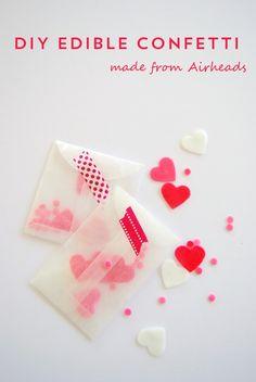 craft, valentine day, diy edibl, proper pinwheel, paper punch, edibl confetti, tape, design, confetti idea