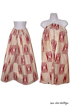 long skirts, african prints