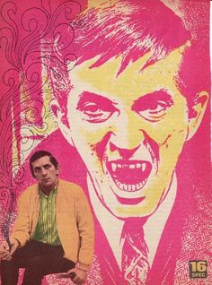 JONATHAN FRID pinup - Cool cartoon like pinup! DARK SHADOWS