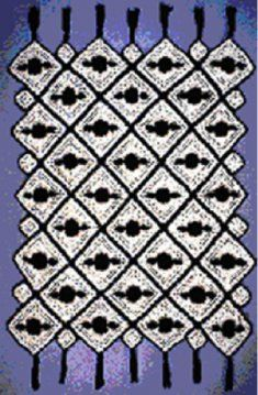 """""""Roses On the Square Afghan""""...Free Pattern!"""