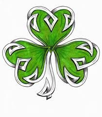 shamrock tattoos - Google Search…I like this, but want a bit more celtic looking...