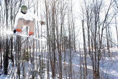 "Snowboarder getting air at Treetops ""The Yard"" #treetopsresort #snowboard"