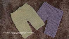 Sapatinhos Para Bebê - Life Baby: Passo a passo Calça em Crochê para Bebê