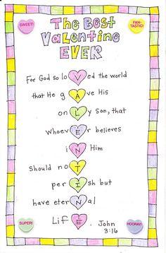 the best valentine ever - John 3:16