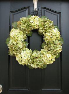 Wreaths - Hydrangea Wreaths- so pretty!!