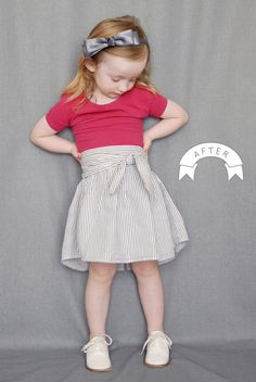 Refashioned clothing for a child. ADORABLE.